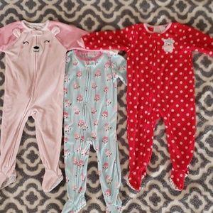 Footed Pajamas 3 Pair